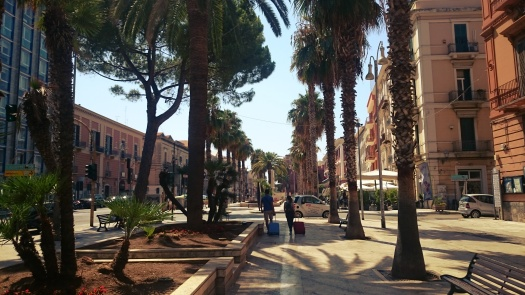 palmy na promenadzie w Bari