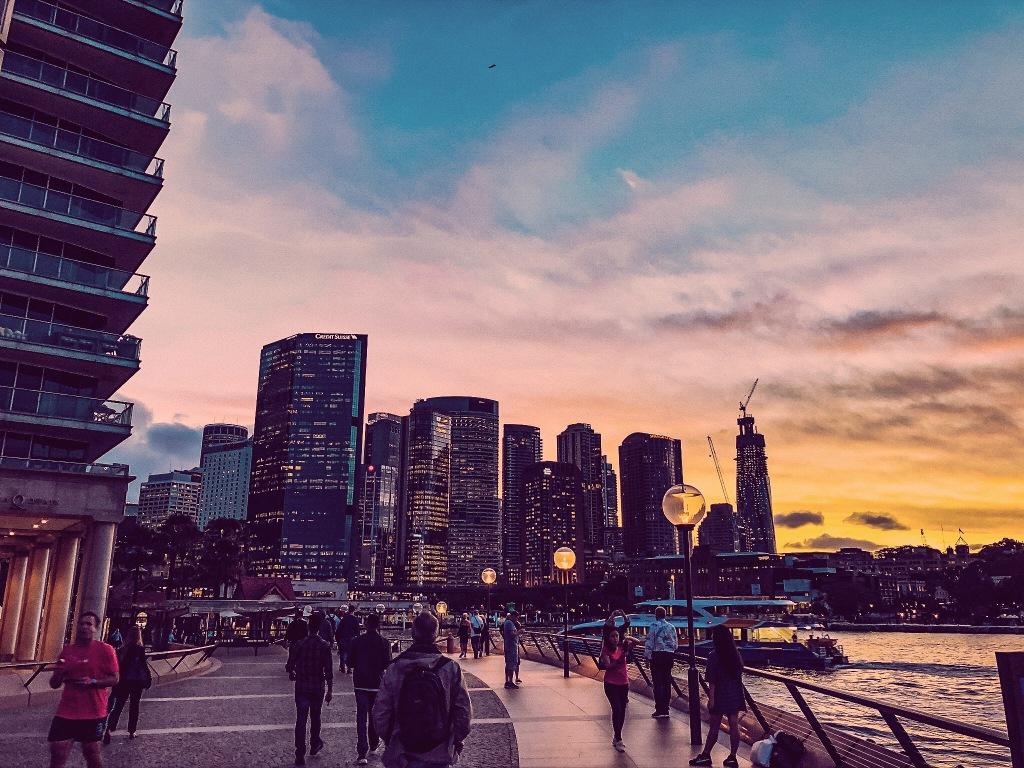 Zachód słońca w Sydney
