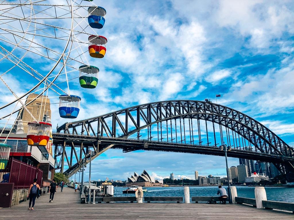 most i kolorowa karuzela w Sydney