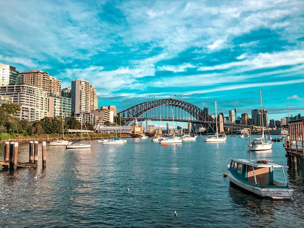 most nad rzeką w Sydney